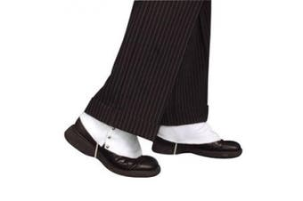 WHITE FABRIC SPATS - MENS GANGSTER FANCY DRESS COSTUME