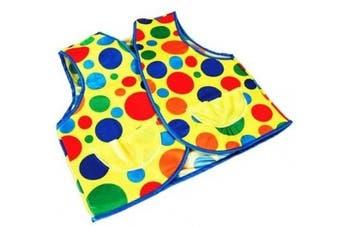 Multi Colour Polka Dot Clown Waistcoat Circus Joker Fancy Dress
