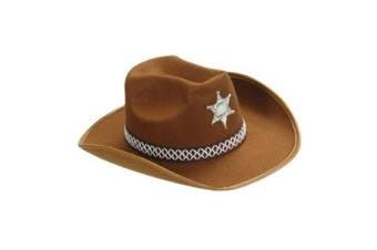 Sheriff Felt Child Size - Brown Sheriff Hats Caps & Headwear for Fancy Dress Costumes Accessory