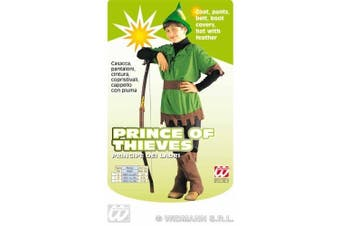 (8-10 Years - 140cm) - Children's Robin Hood 140cm Costume Medium 8-10 yrs (140cm) for Middle Ages Fancy Dress