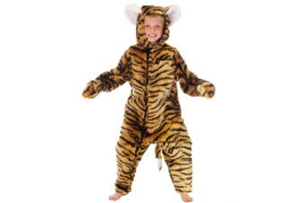 (8-10 years) - Tiger - Kids Costume (Deluxe) - Size: 7-9 Years (140 cms)