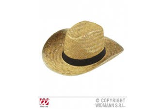 Texas Straw Wild West Cowboy Sheriff Hats Caps & Headwear for Fancy Dress Costumes Accessory