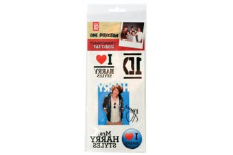 One Direction Temporary Tattoos Harry Single Sheet