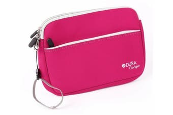 """DURAGADGET Pink """"Travel"""" Water Resistant Neoprene Zip Carry Case With Front Storage Pocket For Kids Vtech Storio Interactive E-Reading System, Vtech InnoTab & VTech Baby Tiny Touch Tablet"""