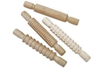 Creation Station Textured Wooden Rolling Pins