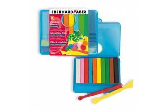 Eberhard Faber Plasticine Clay Bars (10 Bars, Assorted Colours)
