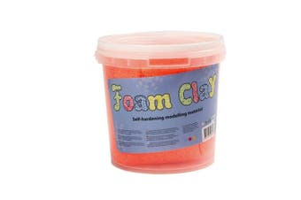 (Orange) - Creativ 50 g Foam Clay, Neon Orange