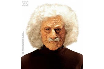 Mens Old Man Albert Mask with And Moustache Wig for Hair Accessory Fancy Dress