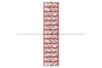 Jumbo Bingo Ticket Singles, 12 to View Pad, Red