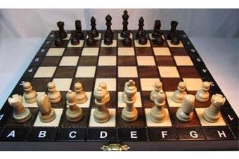 ChessEbook Wooden chess set SCHOOL 27 x 27 cm
