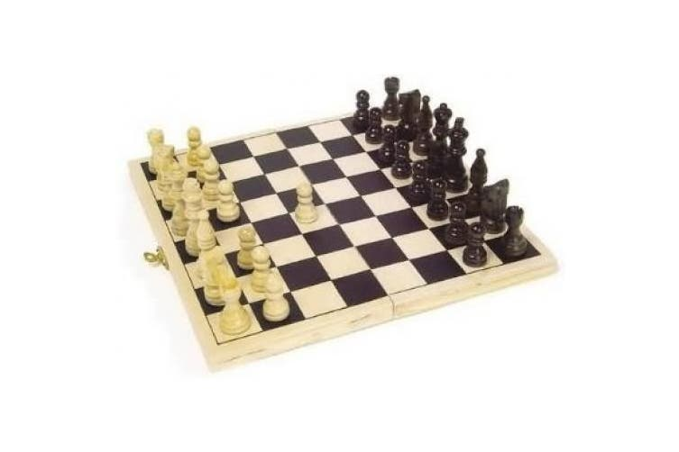 Chess Game in plywood cassette