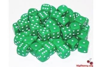 (Green) - Big Cherry Dice, 50 x 12mm Round Corner Spot - Green