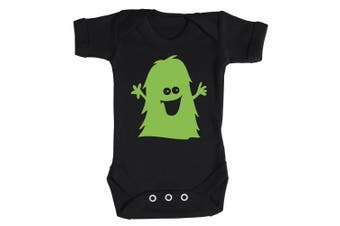 (6-12 Months, Red) - Baby Buddha - Green Monster Baby Babygrow 100% Cotton Sizes 0M Upto 12M in 5 Colours
