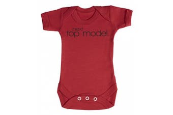 (0-3 Months, Red) - Baby Buddha - Next Top Model Baby Babygrow 100% Cotton Sizes 0M Upto 12M in 5 Colours