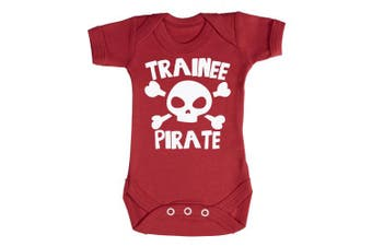 (0-3 Months, Black) - Baby Buddha - Trainee Pirate Baby Babygrow 100% Cotton Sizes 0M Upto 12M in 5 Colours