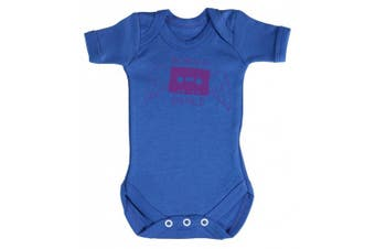(3-6 Months, Bright Blue) - Baby Buddha - Born To Dance Baby Babygrow 100% Cotton Sizes 0M Upto 12M in 5 Colours