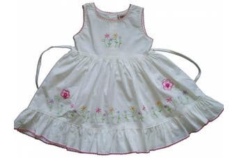 (6 - 9 Months, White) - Cotton Party Dress