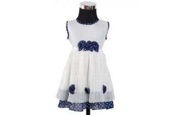 (6 - 9 Months, Blue) - Girls Party Dress