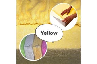 (120 x 60 cm Cot, Yellow) - Terry Fitted Sheet for Toddler Baby Cot Bed or Crib Towelling Mattress Cover (120 x 60 cm Cot, Yellow)