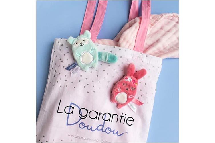 (Blue) - Doudou Et Compagnie Bonbon Flat Doudou Rabbit Gift Box (Blue)