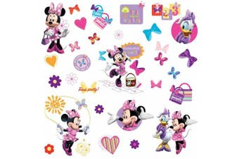 (Inquiries - by email) - RoomMates Disney Minnie Mouse Bow-tique Wall Stickers
