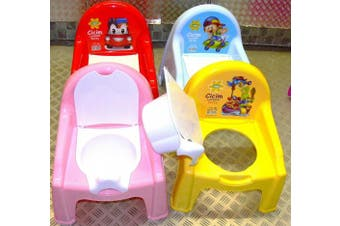 (Signal Red) - Professional Baby Toddler Potty Toilet Training Chair Seat (Colours May Vary - Red or Pink)
