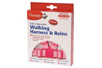 (1, A) - Clippasafe Walking Harness and Reins (Pink)