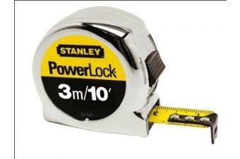 (3 m/10 ft) - Stanley 033523 Micro Powerlock Tape 3 m. / 10ft