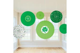Party - St. Patrick's Day Paper Fan Decorations - Amscan