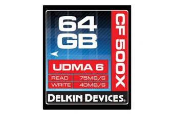 Delkin 64GBRated 500X Compact Flash Memory Card