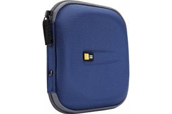 CD Wallet, Holds 24 Disks, Blue