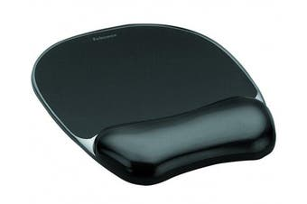 (Black) - Fellowes 9112101 Crystals Gel Mouse Pad and Wrist Support - Black