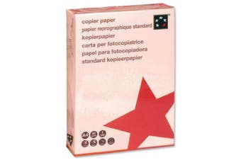 (Pink) - 5 Star Coloured Copier Paper Multifunctional Ream-Wrapped 80gsm A4 Pink [500 Sheets]