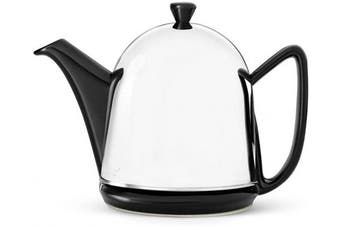 (Black, 1.0 L) - bredemeijer 1510Z Cosy Manto Teapot, 1-Litre, Black Ceramic with Insulated Shell