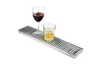 Stainless Steel Long Drip Tray 10cm x 50cm | BAR@drinkstuff Drip Tray, Back Bar Drip Tray, Beer Drip Tray