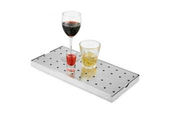 Stainless Steel Bar Drip Tray 20cm x 40cm | bar@drinkstuff Drip Tray, Back Bar Drip Tray, Beer Drip Tray