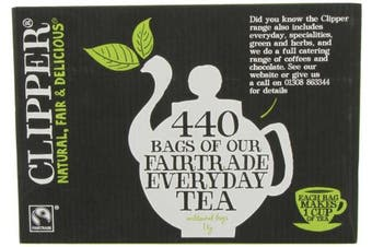 (1, 440 Bag) - Clipper Fairtrade Everyday One Cup Teabags (440 Teabags)