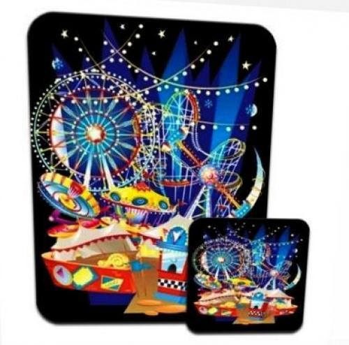 Fairground Mayhem Rollercoaster Rides Lights Set of 4 Coasters
