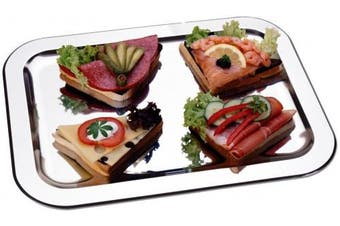 CHG 03018-S12 Serving Tray Stainless-Steel 42 cm x 31 cm