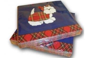 Scottish Gift's - Westie Tartan Terrier Paper Napkins - uk gift's