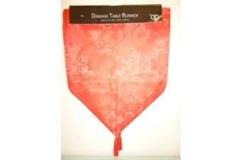 35cm x 152cm Red Damask Table Runner (DA9)