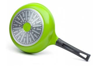 (20 cm) - The 20 cm Green Earth Frying Pan by Ozeri, with Smooth Ceramic Non-Stick Coating (100% PTFE and PFOA Free)