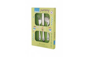 Amefa 3 Piece Kids Flatware Set Soccer