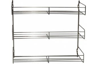 Metaltex 3-Tier 30 x 6 x 33 cm Chrome Plated Spice Rack