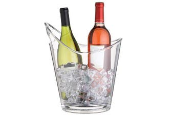 (Two Bottle Cooler with Handle) - BarCraft Wine Cooler Bucket, 2 Bottle Design with Handle, 10 L