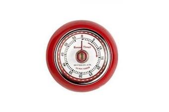 (Retro Timer Red) - 7cm Red Retro Magnetic Timer - Eddingtons Kitchen