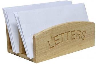 (1, Multi-colour) - Rubber Wood Letter Rack