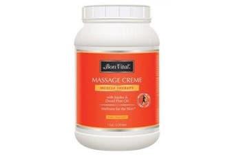 ( 3.8ljar) - Bon Vital' Muscle Therapy Massage Crème / 3790ml