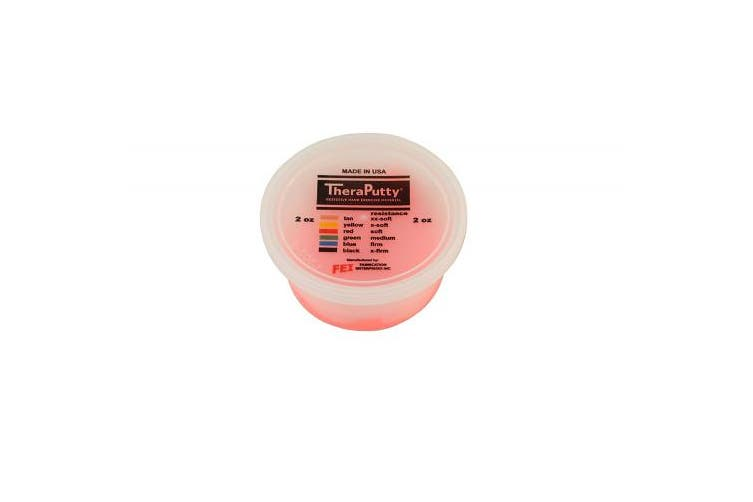 (60ml, Red: Soft) - CanDo TheraPutty Standard Exercise Putty, Red: Soft, 60ml