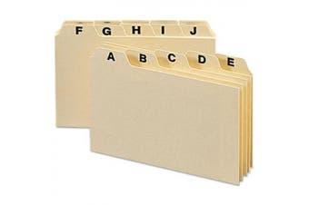 (Manila) - Self-Tab Card Guides, Alpha, 1/5 Tab, Manila, 25/Set